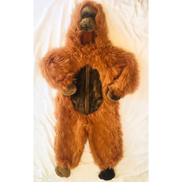 orangutan gorilla halloween costume kids size 78